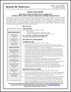 trial attorney resume example job search pinterest resume