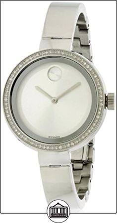 Movado Bold Reloj de mujer cuarzo correa y caja de acero dial plata 3600281  ✿ Relojes para mujer - (Lujo) ✿