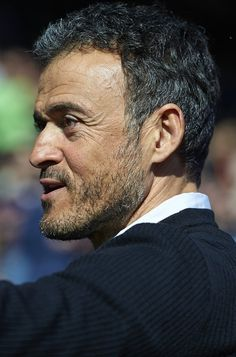 FC Barcelona manager Luis Enrique looks on prior to the La Liga match between Levante UD and FC Barcelona at Ciutat de Valencia on February 07, 2016 in Valencia