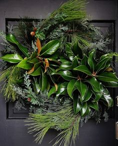 Nice year-round decoration that can be themed to fit different seasons. I  like the combination of foliage.   Inspiration Lane.
