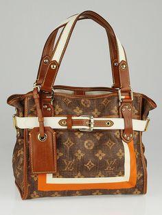8d3e450e848 Louis Vuitton Limited Edition Monogram Tisse Rayures PM Tote Bag