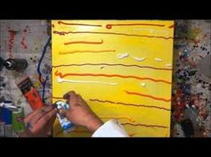 Abstract Painting Demonstration Abstrakte Acrylmalerei Bumblebee
