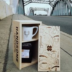 """coffeentrees: """"For the coffee lover in your life. Good lookin' out. by handsomeroaster """" Coffee Shop, Coffee Cups, Coffee Packaging, Coffee Gifts, Coffee Design, Stainless Steel Water Bottle, Drinking Tea, Handsome, Mugs"""