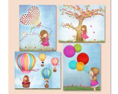 Wall art print for girl bedroom  poster for kids room or