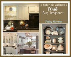 5 Easy Kitchen Updates with Big Impact {Friday Favorites}- The Creativity Exchange