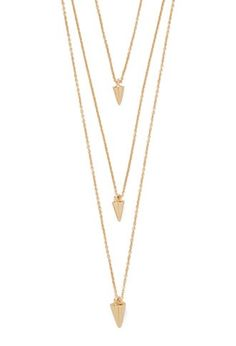 Cone Charm Layered Necklace | Forever 21