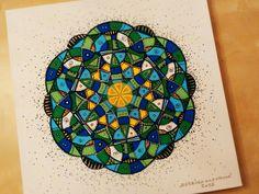 PLÁTNO  CANVAS  ••• První mandalová malba na platno ✍ 50x50 cm  ••• First mandala painting on canvas ✍ 50x50 cm  ••• #mandala #energy #malirskeplatno #painting #canvas #green #blue #yellow #zelena #modra #zluta #art #umeni #original #50x50 #dots #tecky #relax #meditation #meditace #czech #handmade #dowhatyoulove #delejcomilujes #❤ #