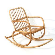 rocking chair enfant en rotin mobilier enfant baos concept store vintage et contemporain