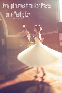 :) treat her like a princess!!