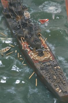Japanese Navy Cormorant vs B25 Mitchell 1/350 Scale Model Diorama