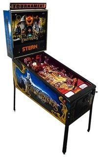 2003: The Lord Of The Rings by Stern. Players of all levels will love THE LORD OF THE RINGS, Gary STERN said. And for those truly familiar with the movies and books, the pinball machine follows the story perfectly. All those involved in the design of the pinball machine are true fans of THE LORD OF THE RINGS, with intimate knowledge of it. That is why this game is so great the designers were into this title. CLIC PICTURE FOR VIDEO.