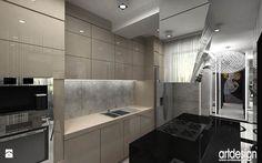 kuchnia w kolorystyce chłodny beż - Kuchnia - Styl Nowoczesny - ARTDESIGN architektura wnętrz