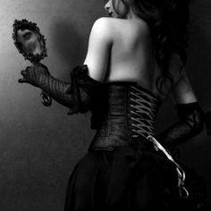 Shemale tige rose miroir