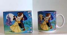 Disney Vintage Beauty & The Beast Mug Princess Belle Coffee Cup Retired With Box #Disney #CoffeeMug