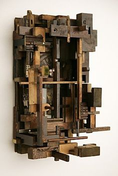 Sculpture | Art | Fragmentation: Lesley Hilling  Lesley Hilling is a British artist who makes sculptural collages from a wide range of recycled materials