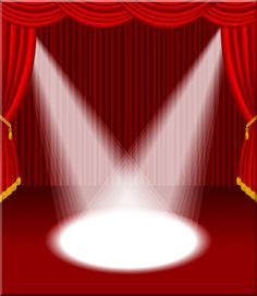 vector empty red stage with two spotlights eps 10 file Stage Curtains, Red Curtains, Eps Vector, Vector Free, Curtains Vector, Dance Shops, Stage Background, Red Home Decor, Graphic Design Art