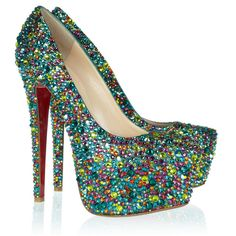 Christian Louboutin Daffodile 160 crystal-embellished leather pumps ($6,395) via Polyvore