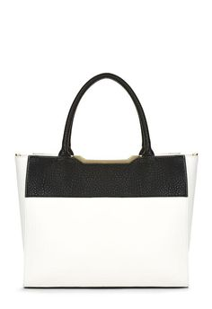 A new kind of tote, Kenan is boxy and textured. l  JustFab