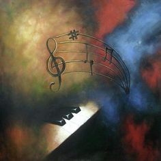 Original acrylic painting on canvas - Music - welcome to custom from phoebesart.com - Your nice choice for wall art