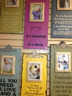 From Moms Sign Company and Baxter Creations. Fabulous frames great gift or even for a memorial tribute. Available at Bagbey House.