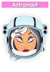 Astronaut female Mask