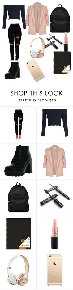 """""""swag or nah"""" by bluebears02 on Polyvore featuring WithChic, Bamboo, River Island, Hogan and MAC Cosmetics"""