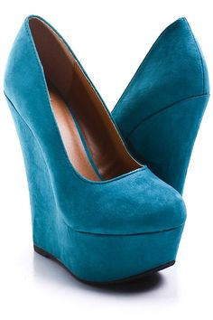 dark teal wedges - I have the Steve Madden pair and i get compliments all the time!  Fit is amazing and super easy to walk in.