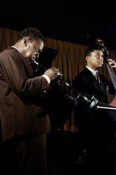 American musician Miles Davis playing jazz, New York City, New York, 1958.