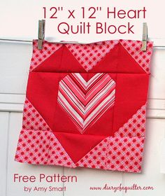 """Diary of a Quilter - a quilt blog: """"Be good to your Heart"""" quilt block tutorial"""