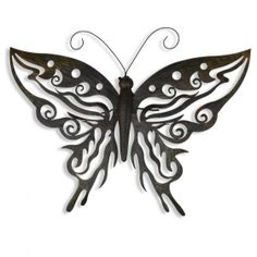 Large Metal Decorative Butterfly Home Wall Art Black / Brown Finish #homedecor #homeideas www.home33accessories.co.uk