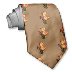 Colorful Autumn Oak Leaf Neck Tie