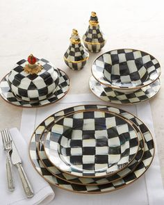 Courtly+Check+Dinnerware+by+MacKenzie-Childs+at+Horchow.