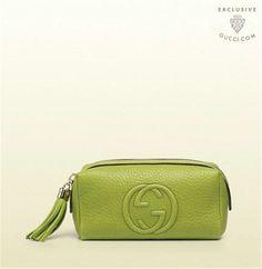 Gucci Soho Cosmetic Case Apple Green G337712