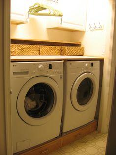 Perfect laundry closet make over