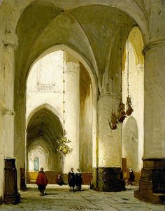 "Bosboom Johannes - Interior Of Church Of St Bavo In Haarlem (from <a href=""http://www.oldpainters.org/picture.php?/47004/category/15854""></a>)"