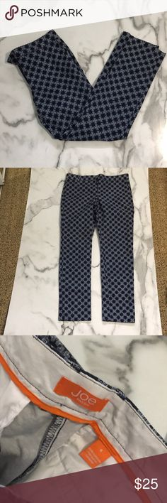 NWOT Joe Fresh patterned pants Size 6 perfect condition skinny pant. Joe Fresh Pants Skinny