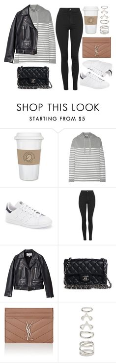 """""""Style #11756"""" by vany-alvarado ❤ liked on Polyvore featuring WALL, T By Alexander Wang, adidas, Topshop, Acne Studios, Chanel, Yves Saint Laurent and Forever 21"""