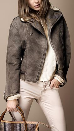 Burberry Brit Autumn/Winter 2012  I have always wanted a bomber jacket!!