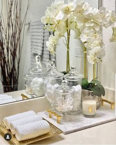 Bathroom Vanity Tray, Spa Bathroom Decor, Bathroom Counter Decor, Bathroom Interior Design, Home Decor Bedroom, Bathroom Countertops, Bathroom Organisation, Organization, Tray Decor
