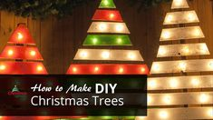 How to Make a DIY Christmas Tree Using Pallets and Marquee Sign Lights.