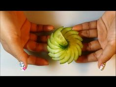 The Art Of Cucumber Carving & Cutting - How To Make Cucumber Flower - YouTube