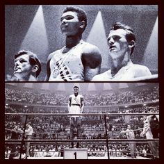 """G T @Greg T Instagram photos   Websta - """"After returning from Rome I went to a restaurant in louisville, Kentucky with my Gold Medal & the waitress says """"ONLY WHITE'S ARE SERVED HERE"""". After fighting through an angry crowd I went to the Ohio Rover & threw my medal in the River"""" - Muhammad Ali (then Cassius Clay 1960) #blackhistorymonth #ali #thegreatest"""