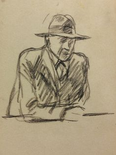 Edward Hopper's Preliminary Sketches for Nighthawks - Hopper's Drawings of Nighthawks - Nalata Nalata