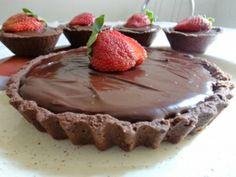 Receita Tortinhas de Morango e Chocolate
