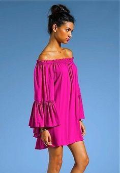Ruffle Off the Shoulder Mini Dress or Top