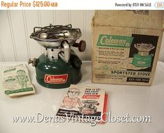 60% OFF Black Friday Sale Vintage Coleman 502-700 Sportster Stove in Box with Booklet