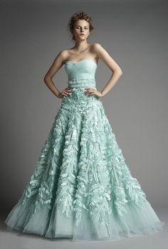Mint Bridal Wedding Gown