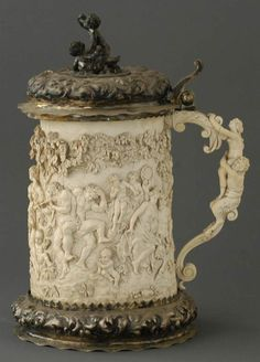 Carved Ivory Tankard, Sold! $21,850 at Fairfield Auction www.fairfieldauction.com