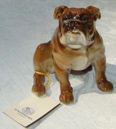 Limited 145/1542 - Hutschenreuther Porcelain Bulldog Dog Figurine- By Karl Tutte