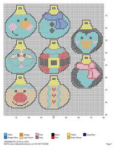 Cute Christmas Tree Ornaments Pg 2/2